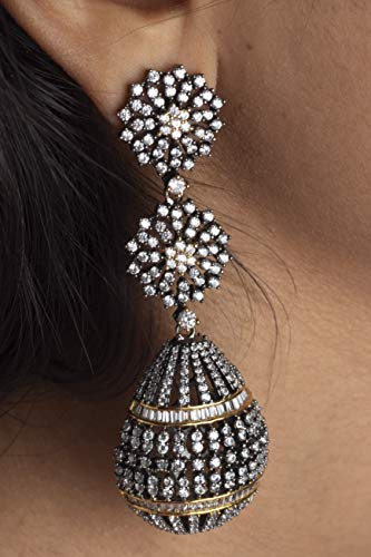 Antique Diamond Earrings(Set of 2) - CRAFTED IN INDIA