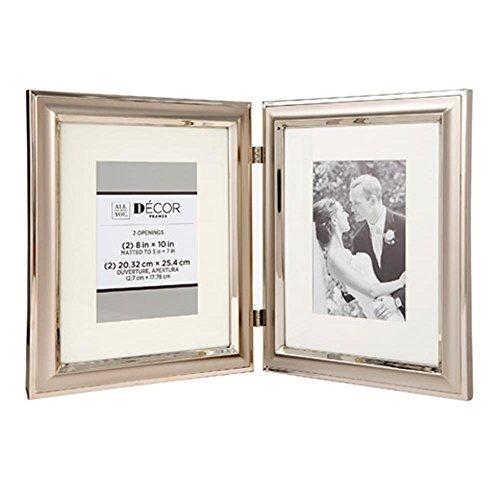 Darice Silver Frames - Darice 30028700 Hinged Silver Metal Picture Frame W/Matting
