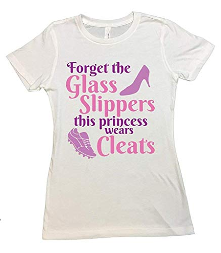 Cute Kids Bodysuit or Toddler Option Cleats Not Glass Slippers Funny Royaltee Shirts Youth XL 14/16, White