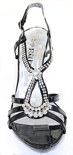 Teardrop Jeweled Formal Wedding Bridal Heel Platform SandaLS Womens Aslyjdq8X2