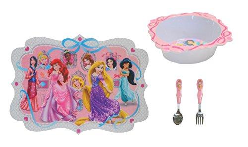 Disney Princess 4 Piece Dinnerware - Set Princess Disney Dinnerware