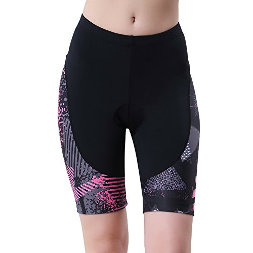beroy Womens Triathlon Shorts with 3D Gel Padded, Cycling and Spinning Pants.(Medium)