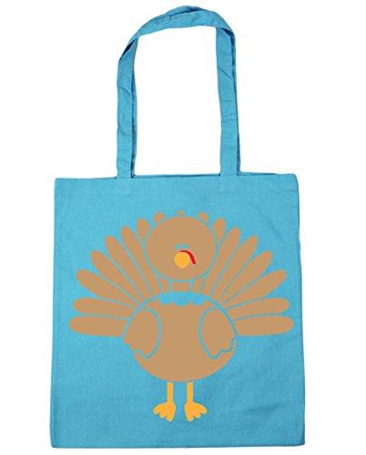 HippoWarehouse Turquía bolsa de la compra bolsa de playa 42cm x38cm, 10litros azul (Surf Blue)