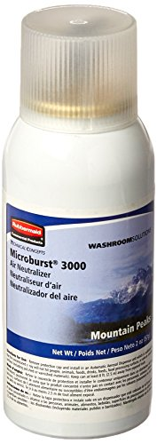 Rubbermaid Commercial Refill for Microburst 3000 Automatic Odor Control System, Mountain Peaks, FG4012571