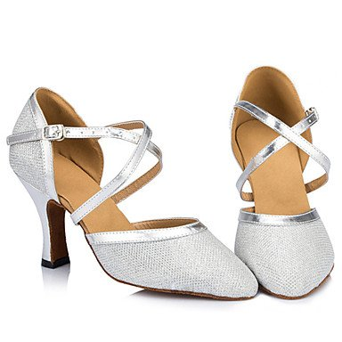 champagne Plata Zapatos Oro Danza de Negro Marfil de latina baile estilete Personalizados Tacón p66xC7