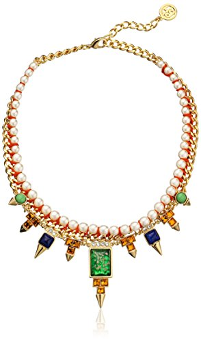 Ben-Amun Jewelry Spike and Crystal Collar Necklace, 16'' by Ben-Amun Jewelry