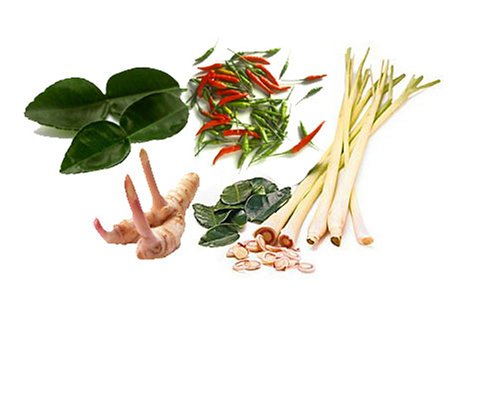 (1 Oz Fresh Kaffir Lime Leaves, Lemongrass, Galangal, Thai Chili Set)