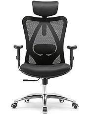 Sihoo Ergonomics Office Chair Recliner Chair,Computer Chair Desk Chair, Adjustable Headrests Chair Backrest and Armrest's Mesh Chair
