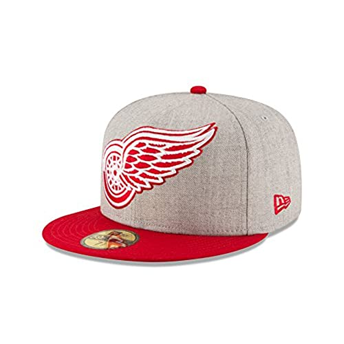 reputable site 7715b bae5a ... inexpensive nhl detroit red wings heather grand fitted 59fifty cap size  7 1 8 gray heather