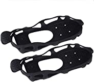 The Fisherman 24 Spikes Anti-Slip Ice Grippers for Shoes/Boots, Traction Cleats with 2 Removable Straps for Wa
