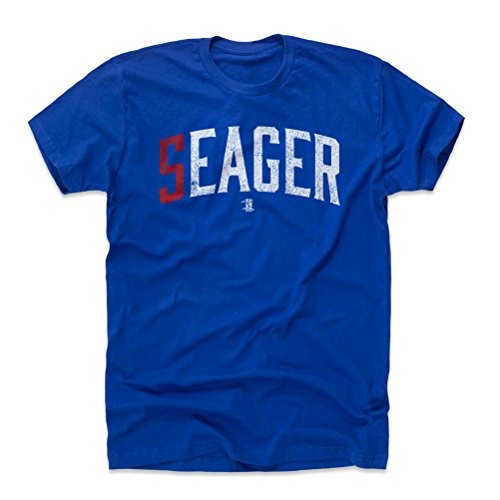500 Levels Corey Seager Cotton Shirt Medium Royal Blue   Los Angeles Baseball Fan Apparel   Corey Seager Seager W Wht