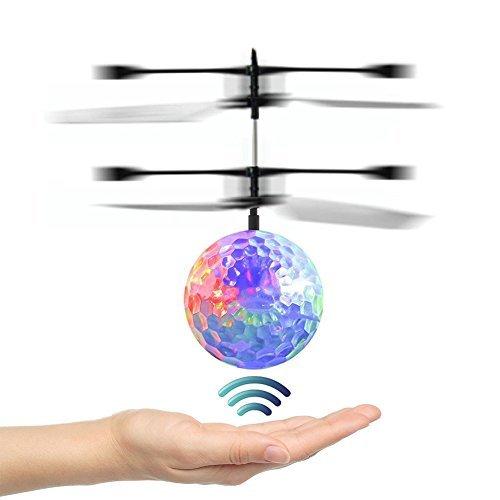 フライングボール Flying Ball ボール型 ヘリ フライングトイおもしろ おもちゃ 手の平で操作するボール型ヘリ  パーソナリティセンサーバラエティLEDライトボール「かざして便利です」 - VENAS (多彩)