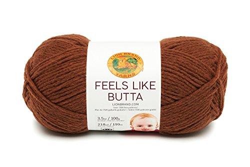 (Lion Brand Yarn 215-126 Feels Like Butta Yarn, Brown)