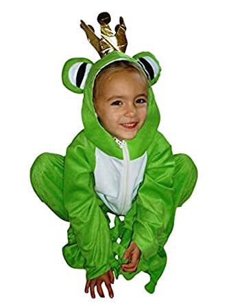 Fantasy World Frog King Halloween Costume f. Children, Size: 4t, Sy12