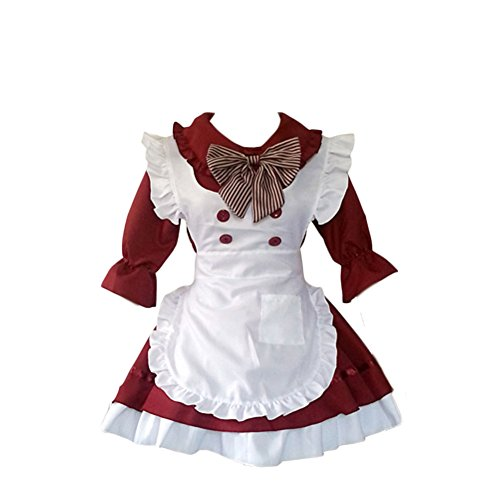 COCONEEN Cute Lolita Anime Cosplay French Maid Costumes 2-4 ()