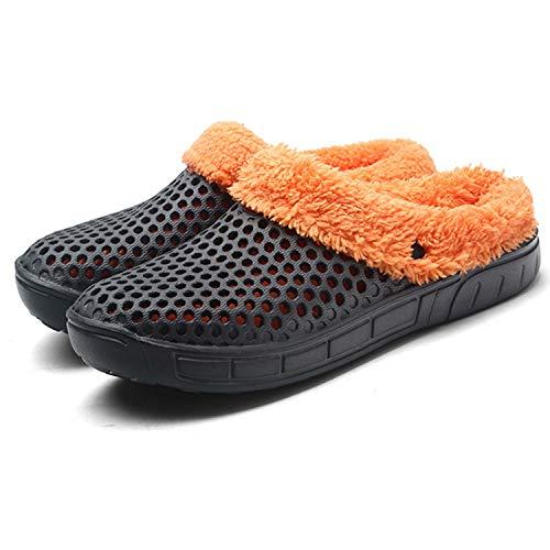 HMAIBO Garden Clogs Shoes Women's Men's Breathable Mule Sandals Water Slippers Footwear Grey-cotton