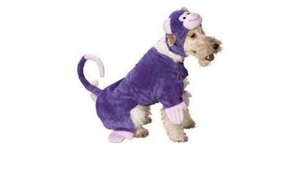 Mono Mono Disfraz de perro morado para mascotas Tamaño Mediano ...