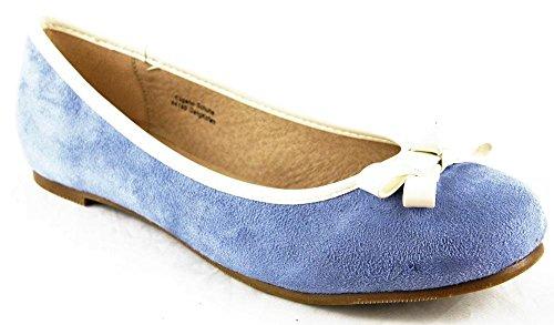 Andrea Conti Schuhe Halbschuhe Sommer Ballerinas Echt Leder Blau 2094