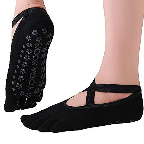Yoga Socks for Women Non-Slip Grips & Straps.