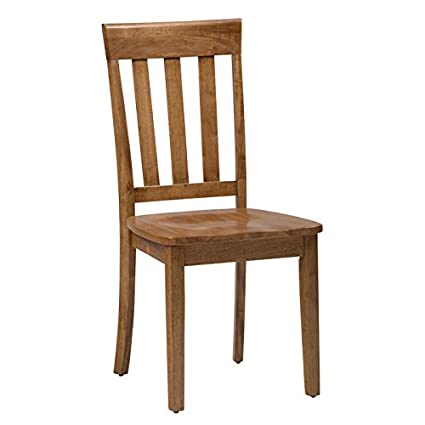 Amazon Com Jofran Simplicity Wood Slat Back Dining Chair In Honey