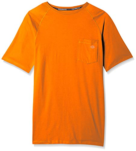 Dickies Men's Short Sleeve Performance Cooling Tee, Bright Orange, M