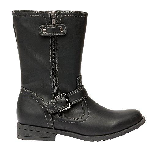 Black Biker Style Boots - 9