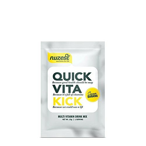 Nuzest Quick Vita Kick - Vitamin and Superfood Shake, Vegan, B12, Plant-based, Natural Energy Booster, Cacao Banana, Sample Size