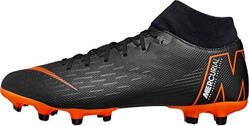 - Nike Men's Superfly 6 Academy MG Multi-Ground Soccer Cleat, Black/Total Orange-White, 12