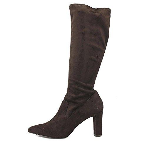 Adrienne Vittadini Chaussures Femmes Nanni Slouch Boot Marron Foncé Microsuede Stretch
