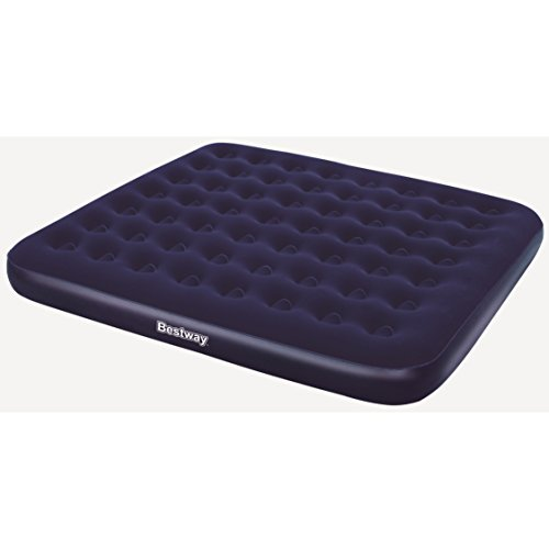 Bestway Comfort Quest Flocked King Size Air Bed 80 X 72 X 8.5 Inch Blue by Bestway Comfort