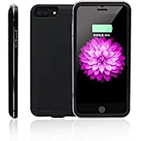 Fastdisk Generic Model for iPhone7/6/6s Battery Case, Multi Ultra Slim Extended Removable Battery Charging Case for iPhone 7/6/6s(4.7inch) with 4000mAh Real Capacity(Black)
