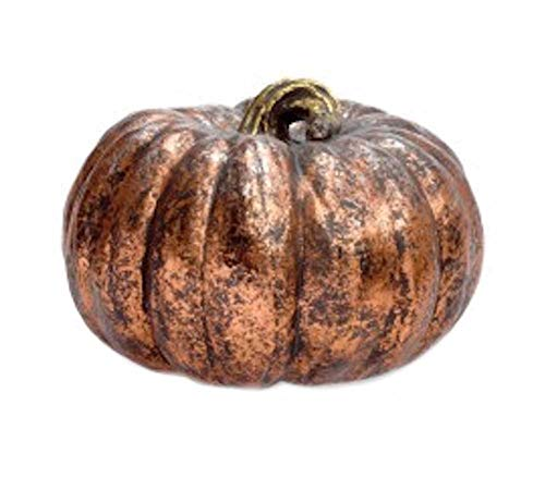 Boston International Aged Copper Round Pumpkin Figurine, Medium -