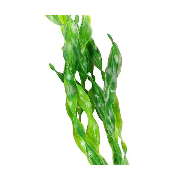 MyLifeUNIT Artificial Seaweed Water Plants for Aquarium, Plastic Fish Tank Plant Decorations 10 PCS 4