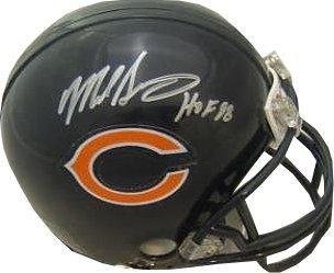 Signed Mike Singletary Mini Helmet - Replica HOF 98 Hologram - JSA Certified - Autographed NFL Mini Helmets