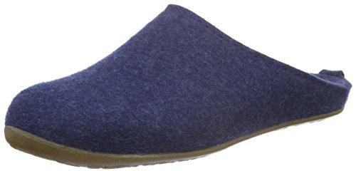 Haflinger Unisex-Erwachsene Everest Fundus Pantoffeln Blau (Jeans 72)