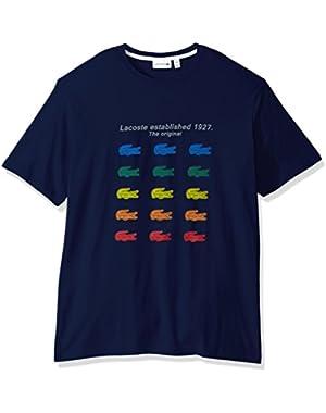 Men's Multi Color Croc Graphic T-Shirt