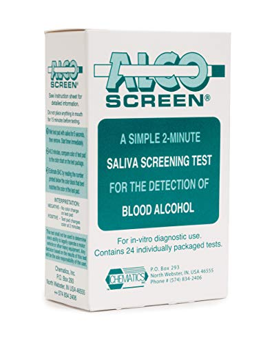 Alcohol Screen02 - Saliva Alcohol Test (12 tests) (Alcohol Testing Strips)
