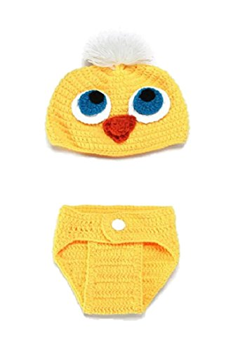 Newborn Baby Girl/Boy Crochet Knit Costume Photography Prop Hats and Outfits (Baby Chick) -