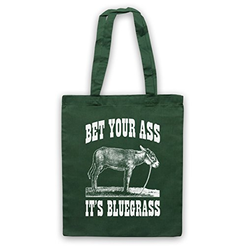 Slogan Bag Green Dark It's Ass Bluegrass Tote Your Bet qw1vZf1