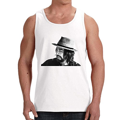 Tilung Member of Black Crows Jackie Greene Tank Top for Mens White