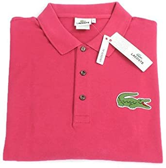 0a32712cf Lacoste Big   Tall  quot Jumbo Croc quot  Short Sleeve Polo Shirt - Pink -