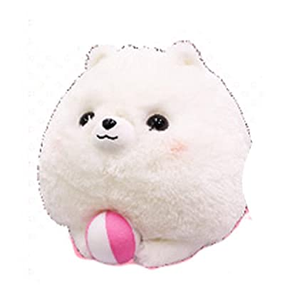 "AMUSE Dog Plush Pometan Fusedekitayo series BIG size - Pometan (White) - Dog plush 11.8"" height - Authentic Kawaii from Japan: Toys & Games"