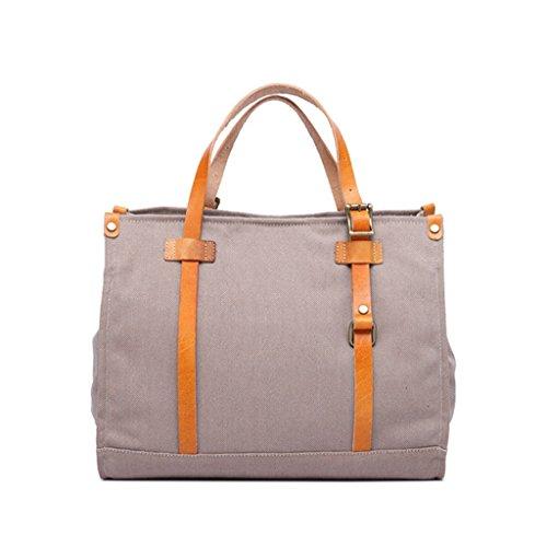 Sucastle Casual bag retro bag canvas bag handbag shoulder bag Messenger bag Sucastle Colour:Dark brown Size:39x31x13cm