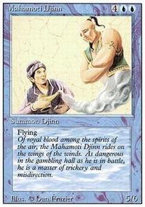 Magic: the Gathering - Mahamoti Djinn - Revised Edition