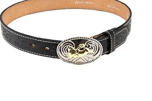 Nocona Boys' Floral Leather Belt (18