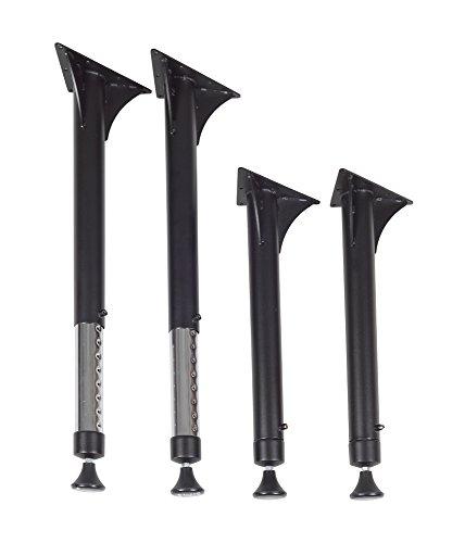 Regency Kee Adjustable Leg, Black & Chrome (Set of 4)