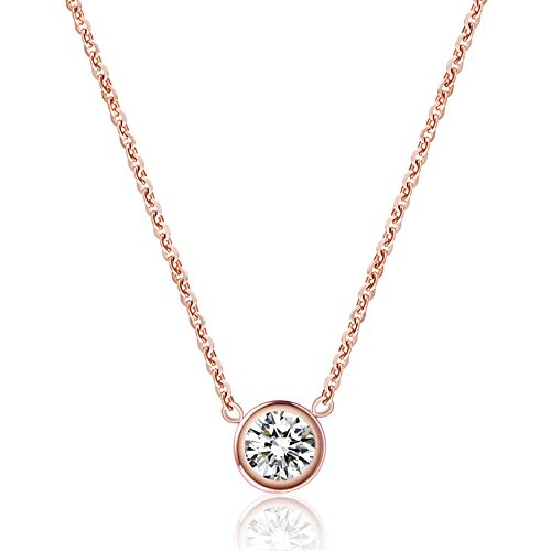 Rose Gold Necklace Amazoncom