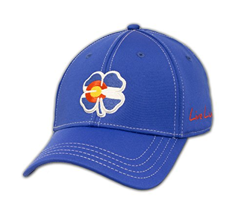 BLACK CLOVER New Colorado Flag Live Lucky #2 Blue Fitted S/M Golf Hat/Cap