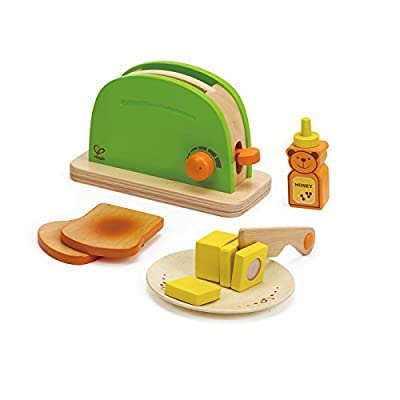 Hape Pop Up Toaster Wooden Play Kitchen Set with Accessories | Educational Toys