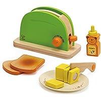 Hape Tostadora Infantil con Pan, Mantequilla, Miel, Plato y Cuchillo